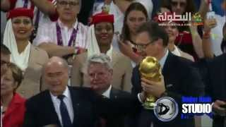 Gambar cover Germany celebrate World Cup 2014 trophy Germany 1 - 0 Argentina