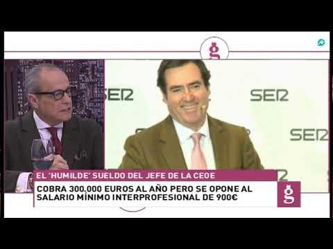 Serrano estalla contra Garamendi y su sueldo 'humilde' de 300.000 euros