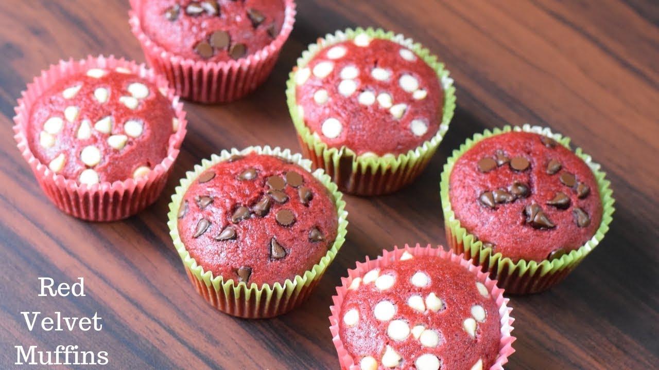 Ricetta Muffin Red Velvet.Red Velvet Muffins Valentine S Day Special Eggless Red Velvet Cupcakes Youtube
