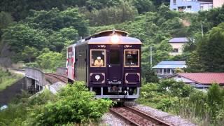 三陸鉄道南リアス線 36-R3形+36-700形205D 吉浜駅到着① 2014年6月22日