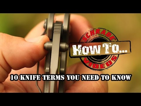 10 Knife Terms You Need To Know