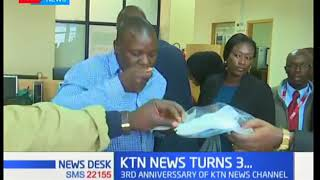 KTN News celebrates three of bold coverage of news items