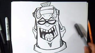 Как нарисовать  баллончик с краской Демона | граффити(граффити музыка (Audiomicro.com), 2014-10-14T20:08:35.000Z)