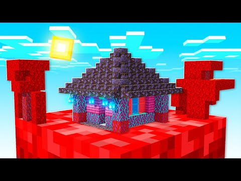 NETHER HOUSE ON ONE BLOCK SURVIVAL (EP 18) from YouTube · Duration:  13 minutes 37 seconds