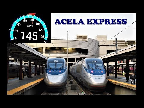 Boston to New York High Speed Journey on board Amtrak's Acela Express!!!