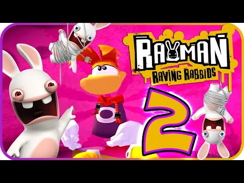 Rayman Raving Rabbids Walkthrough Part 2 (PS2, Wii, X360) No Commentary