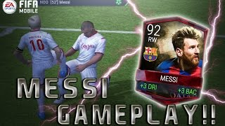 FIFA Mobile Gameplay!! 92 OVR MESSI IS A GLITCH!!