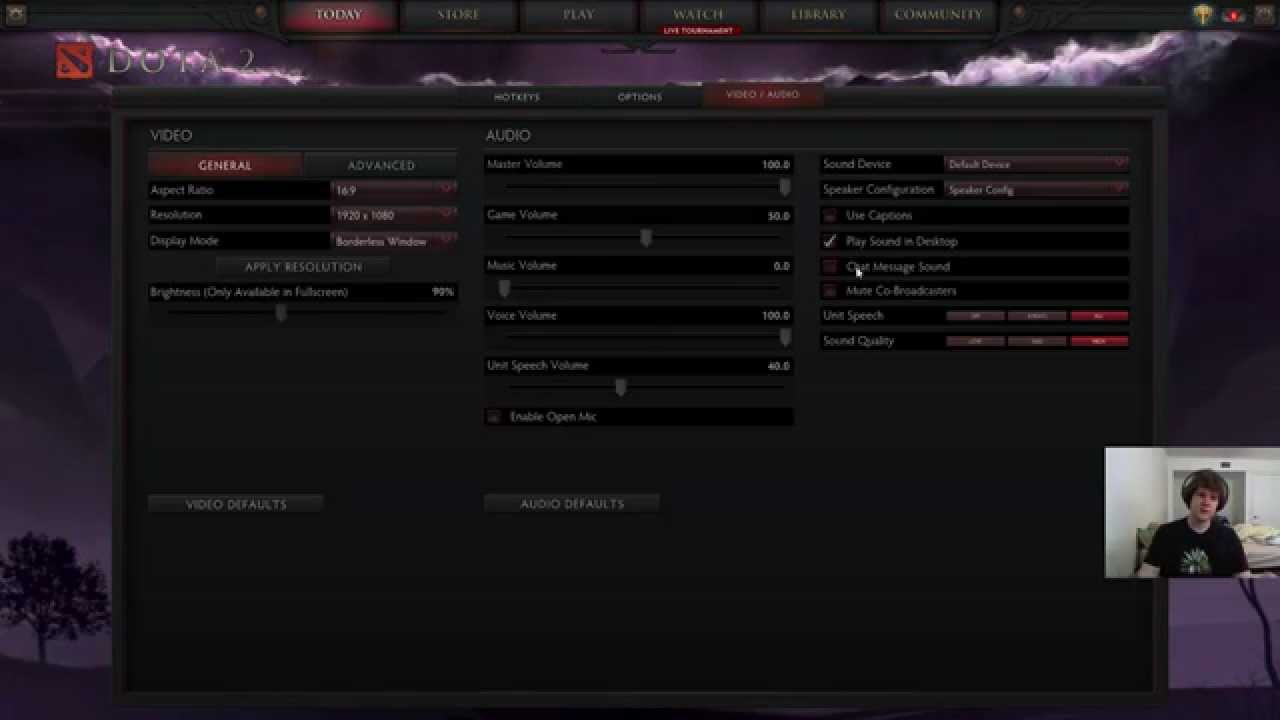 how to configure and optimize dota 2 video audio mic settings