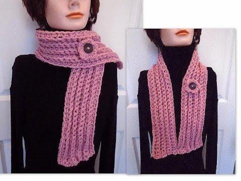 Easiest Crochet Scarf Skinny Scarf Unisex Scarf Crochet
