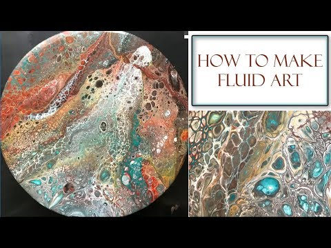 How to Make Fluid Art | Acrylic Pour Method with Tips