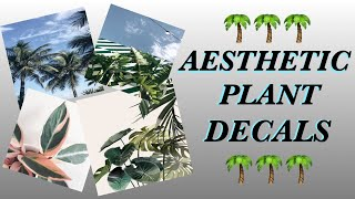 Décalcomanies esthétiques de plantes - Roblox Bloxburg