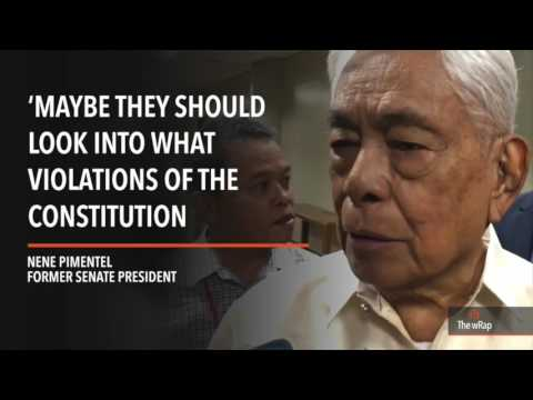 Robredo's 'UN statement' not an impeachable offense – Nene Pimentel