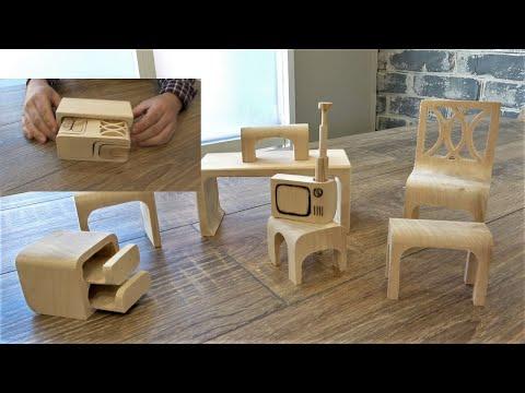Пазл Миниатюрная мебель по мотивам винтажной головоломки /Puzzle Miniature Furniture Vintage Puzzle