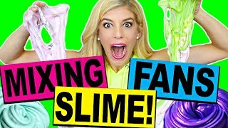 MIXING FAN'S SLIME INTO ONE GIANT FLUFFY SLIME CHALLENGE!!