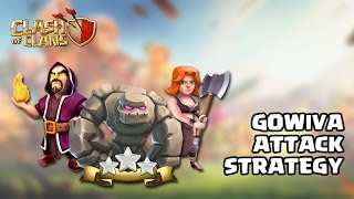 Clash Of Clans | Town hall 8 GoWiVa Attack. 3 star attack strategy