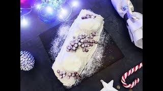 Буш де Ноэль с белым шоколадом - Рождественское полено, Новый год 2018