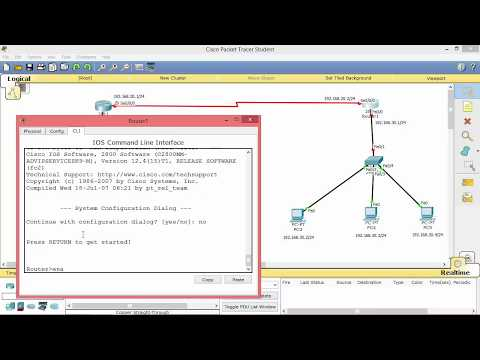 How to configure Default-Routing in Cisco Packet Tracer (CCNA)