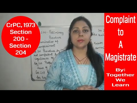 Complaint to Magistrates || CrPC 1973 ||