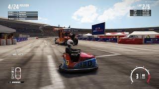 Wreckfest - 1 Bumper Car vs 23 Big Rigs at Figure 8 Hilltop Stadium (Realistic Damage)