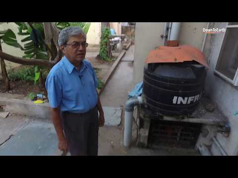 Solar Suresh: Home with solar panels, biogas plant, rainwater harvesting and organic vegetables