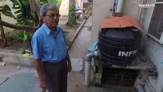 Solar Suresh: Home with solar panels, biogas plant, rainwater harvesting and organic vegetables