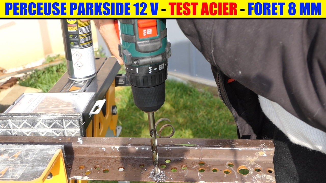 lidl perceuse visseuse 12v parkside test acier cordless drill akku bohrschrauber youtube. Black Bedroom Furniture Sets. Home Design Ideas