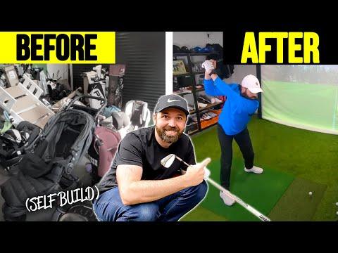 I Built A Golf Simulator AT HOME!