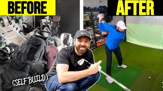 I built a golf simulator AT HOME!