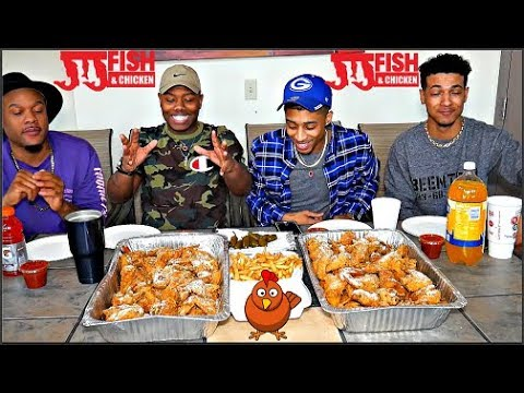 JJ's Chicken Mukbang With The Gang🍗🐓