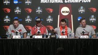 2018 College World Series - CWS Championship Finals Game 3 Press Conference (Oregon State)