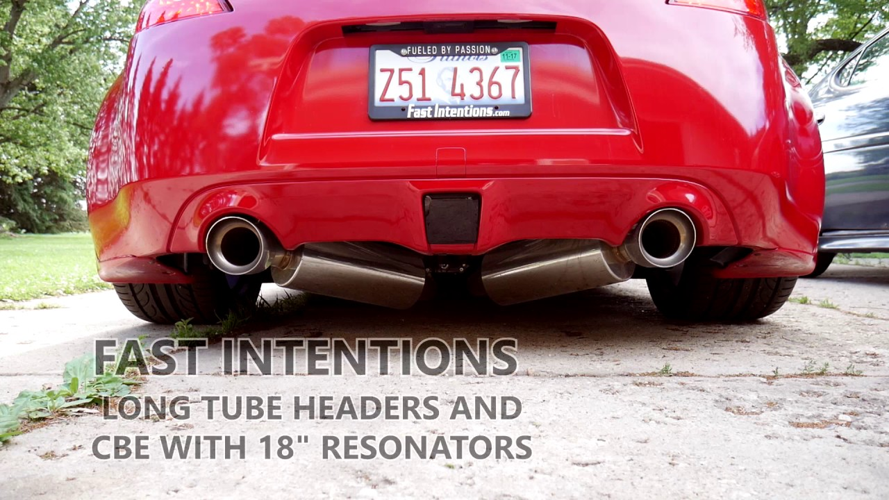 370z Stock Exhaust vs Fast Intentions LTH & CBE w/ 18` Res - Startup/Idle