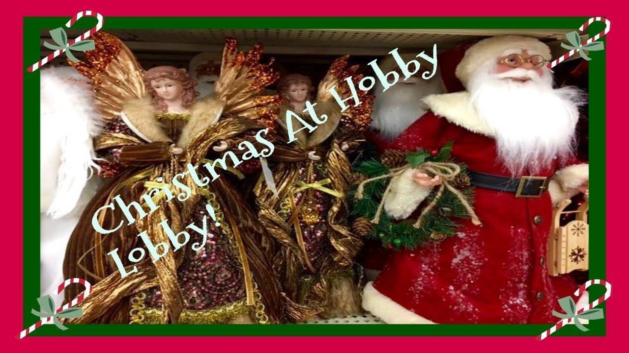 Christmas Decor Shopping At Hobby Lobby! Pt.1 2017 - YouTube