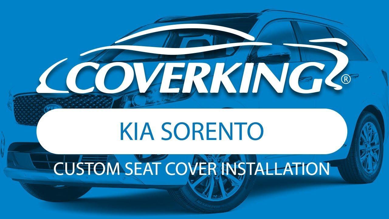 COVERKINGR 2016 2018 Kia Sorento Custom Seat Cover Installation