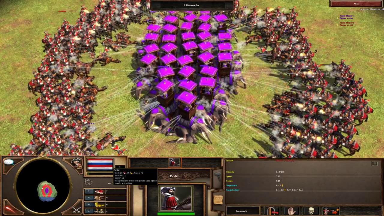 Age of Empires 3 - 250 Ruyter Vs 50 Howdah 4K