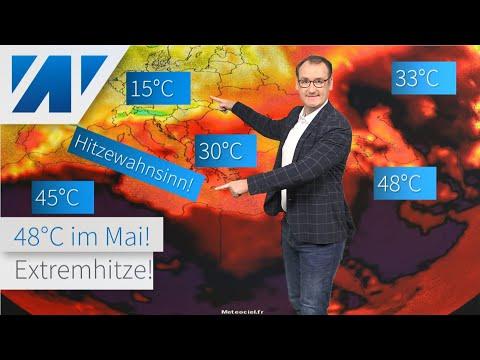 48°C! Europa ist von Extremhitze umzingelt! Kommt der Hitzewahnsinn nach Deutschland? Wettertrend!