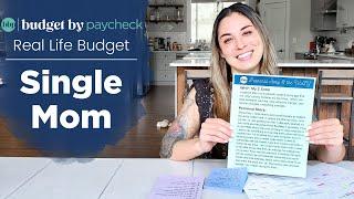 BBP Real Life Budget - Single Mom + Financial Goals + Budget Tips
