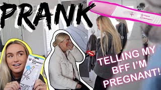 PREGNANCY PRANK ON MY BEST FRIEND | SYD AND ELL