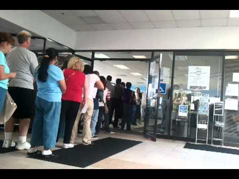Unemployment line,