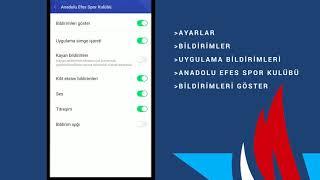 Anadolu Efes Mobil Uygulama Bildirimlerini Nasıl Açarım?