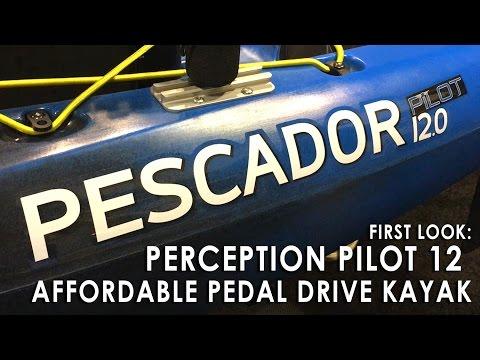 Perception Pilot 12 Affordable Pedal Drive Kayak - ICAST 2016