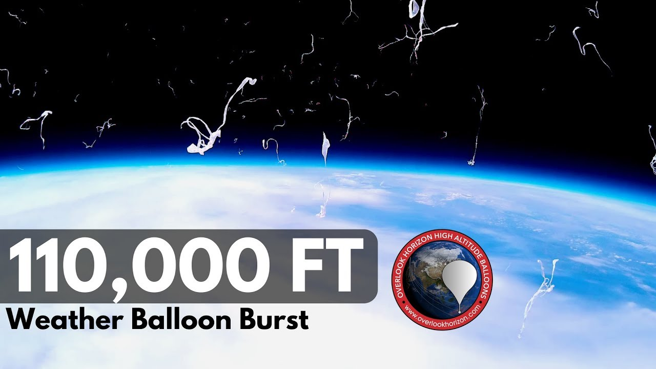 Altitude Rochester Ny >> High Altitude Weather Balloon Burst at 110,000 FT. - YouTube