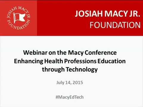Web Conference: Enhancing Health Professions Education through Technology