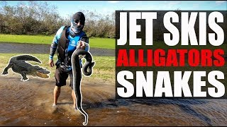Riding Jet Skis With Alligators on the Kissimmee River