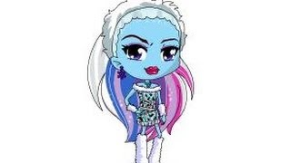 How to draw Chibi Abbey Bominable from Monster High