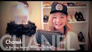 Chanel le boy Medium Bag Review/What's in my bag Thumbnail