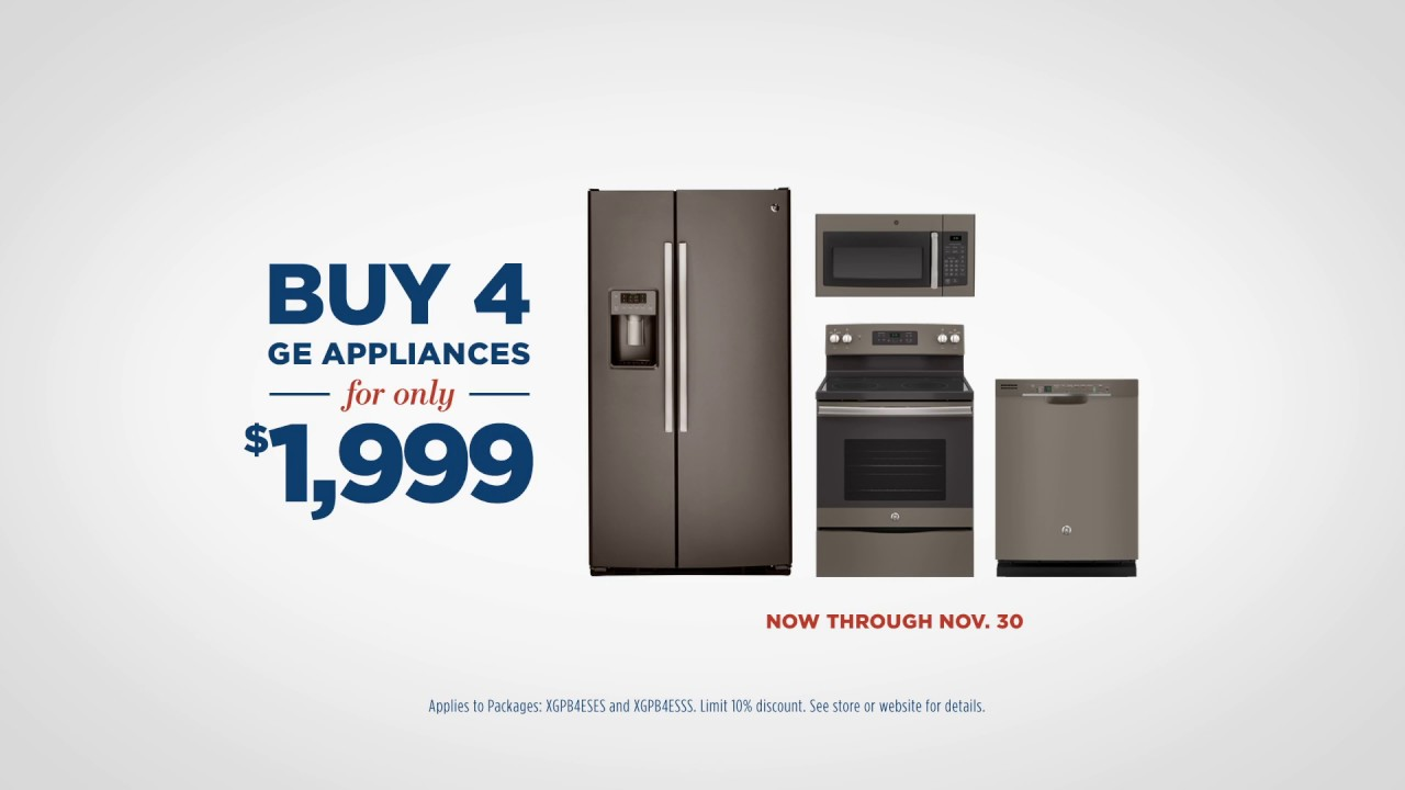 ge appliances black friday savings event buy 4 ge appliances for only 1 999 ge appliances. Black Bedroom Furniture Sets. Home Design Ideas
