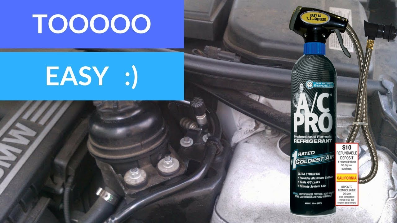 BMW AC RECHARGE KIT (SOOOO EASY STEP BY STEP)