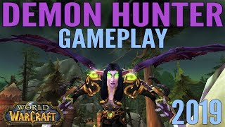 WoW: Demon Hunter Gameplay 2019 - Battle for Azeroth & All Specs
