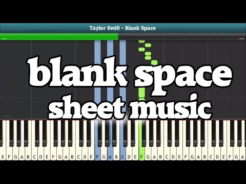Blank Space Piano Sheet Music  Easy Piano Tutorial TAYLOR SWIFT
