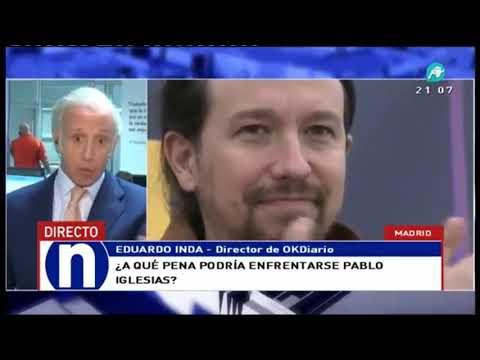 Eduardo Inda asegura que Iglesias miente: 'podría acabar un año en la cárcel'